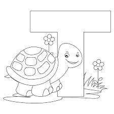 Small Picture Preschool Kids Learn Letter T is for Turtle Coloring Page Bulk Color