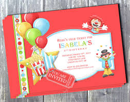 Circus Party Invitation Beauteous Birthday Boy