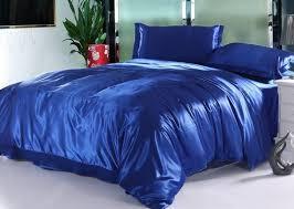silk royal blue bedding set satin sheets california king queen full twin size duvet cover bedsheet ed bed in a bag quilt linen beding sheets silk flat