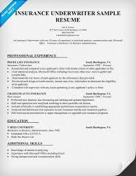 insurance underwriter resume sample resume samples across all industries pinterest resume examples and resume sample insurance resume