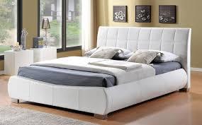 dorado white leather king size bed