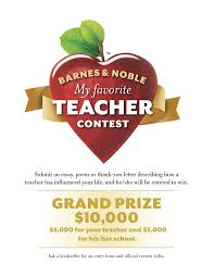 maui high school barnes noble my favorite teacher contest