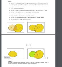Disjoint Venn Diagram Example Solved Notation An Event Is A Subset Of The Sample Spa