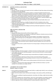 Resume Templates Recruiter Technical Exceptional Job Objectives Hr