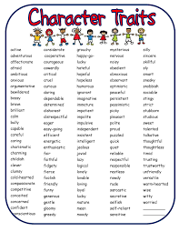 importance of good character essay bringing characters to life in  bringing characters to life in writer s workshop scholastic list of character traits