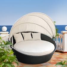 Furniture Modern Outdoor Daybed With Canopy For Unique Patio