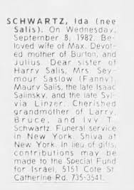 Obituary for Ida SCHWARTZ - Newspapers.com
