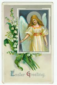 2D and 3D Angels – Easter Greeting postcard and April angel ceramic  figurine | Postcardiness's Blog