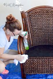 how to paint wicker furniture quickly