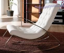 modern white chairs. Ultra Modern White Rocking Chair Chairs