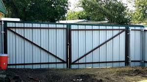 corrugated metal privacy fence cost how to build a sh and wood