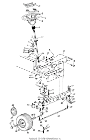 parts diagram for front steering embly