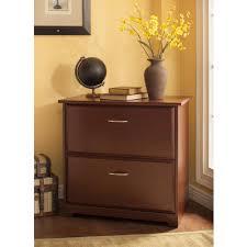 Cherry File Cabinet Bush Furniture Cabot Collection Lateral File Walmartcom