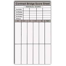 Contract Bridge Scoring Chart Baron Barclay Contract Party Rubber Bridge Score Pads Set Of 6 Double Sided Pages 360 Total Scoring Sheets Includes Score Chart