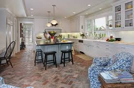 contemporary kitchen floor tile designs. reclaimed terracotta brick tiles give this contemporary farmhouse kitchen a timeless elegance. floor tile designs