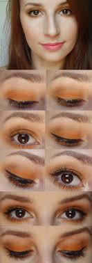 best eyeshadow tutorials orange eye makeup easy step by step how to for eye