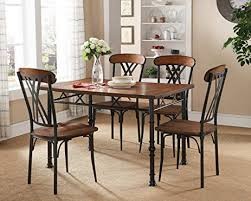 kings brand furniture ash finish wood with metal dining dinette kitchen table 4