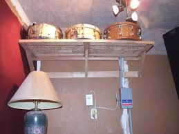 my drum room is very small still made the wife mad but having them up high lets me still tuck the full kit in when i choose without interference