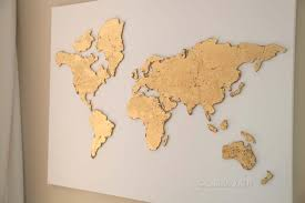 global map wall art