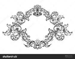 vintage baroque victorian frame border monogram fl