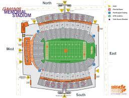 Auburn University Stadium Seating Chart Clemson Football Stadium Seating Chart Rows