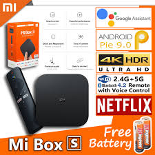 Xiaomi Mi TV Box S ▷12.12 Mega Sale◁(Global Version)[Free Battery]Latest  Version Smart 4K Ultra HD Streaming Media Player, Netflix, IPTV Wi-Fi  Bluetooth 4.2 Quad-Core CPU, HDMI port connection, support USB storage  device,