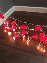Christmas Lights Solo Cups Pin Em White Trash Bash