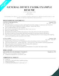 Cover Letter For Office Clerk Impressive Administrative Assistant Clerk Resume Clerical Objectives Sample