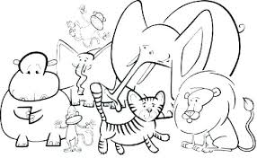 Zoo Coloring Pages Zoo Coloring Pages For Preschoolers Coloring Page