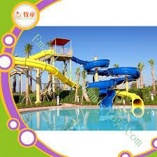 china customized factory water park fiberglass water slide open spiral slide china water park water slide