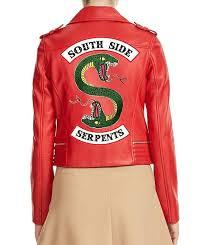 riverdale southside serpents red leather jacket riverdale
