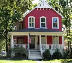 Superb Red House Exterior Farmhouse Design Ideas With Cottage Curb - Farmhouse exterior paint colors