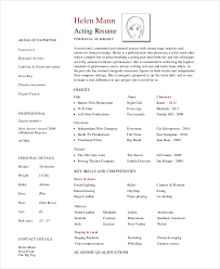 Sample Professional Acting Resume