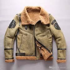 2019 army green 2016 avirexfly usa b3 flying wear flight jackets lamb fur lining inside double face fur sheepskin leather jackets from qltrade 13