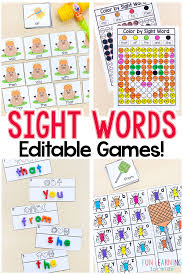 Editable Sight Word Games That Are Super Fun