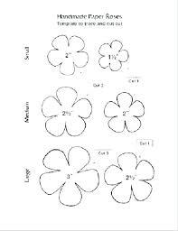Paper Flower Templates Free Download Rose Template Printable Free Paper Rose Petal Templates Large Flower