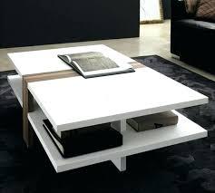 modern white coffee table s colette modern round high gloss white
