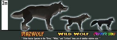 Dire Wolf Size Chart The Werehouse Dires Wolf Avatar In 2019 Dire Wolf Size