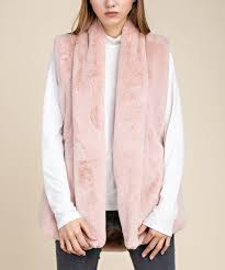 Mittoshop Blush Side Pocket Faux Fur Vest Women