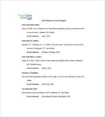 Professional References List Template apa reference list Things Should be Done and Prepared in Good 34