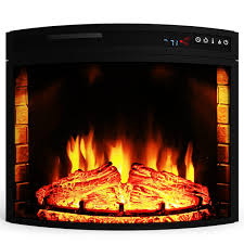 elite flame 23 inch curved electric fireplace insert