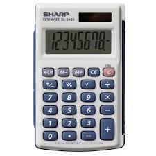 Sharp 8 Digit Pocket Calculator El 243s