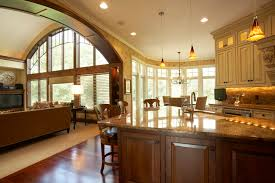 Open Floor Plan Living Room Decorating Family House Plans With Large Master Suite Nice Interior Design