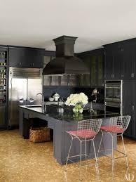 dark granite with dark gray cabinets