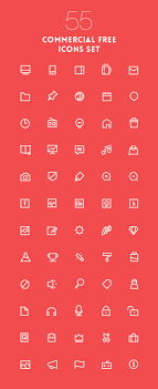 lovely vector outline icons pack eps 55 icons basic icons flat icons 1000