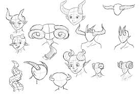 Demon Horn Designs 2018 Animation Project Character Design Setting Concept