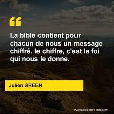 La Bible Contient Pour Chacun De Nous Un Message Chiffré Le