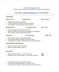Chronological Resume Template Download Best Of Chronological Resume Template Download Free Download Chronological