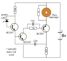 101 200 transistor circuits the led in this circuit will detect light to turn on the oscillator ordinary red leds do not work but green leds yellow leds and high bright white leds