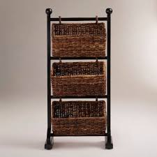 size bathroom wicker storage: bathroom bathroom towel storage basket with traditional rattan wicker using black stand as well as